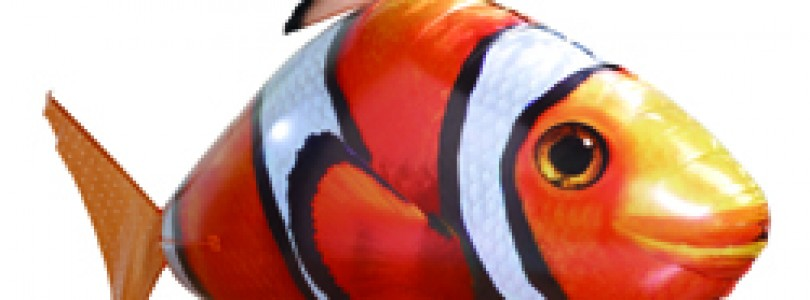 Win an Air Swimmers Clown Fish remote-controlled blimp!