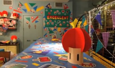 See how the Paper Mario pop-up diner was constructed