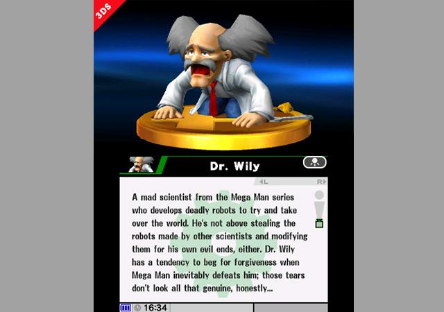 dr-wily-trophy-super-smash-bros-3ds