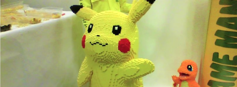 Giant LEGO Pikachu Constructed From 25,000 Bricks