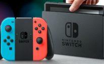 Neon Red Blue Nintendo Switch Dock Photo