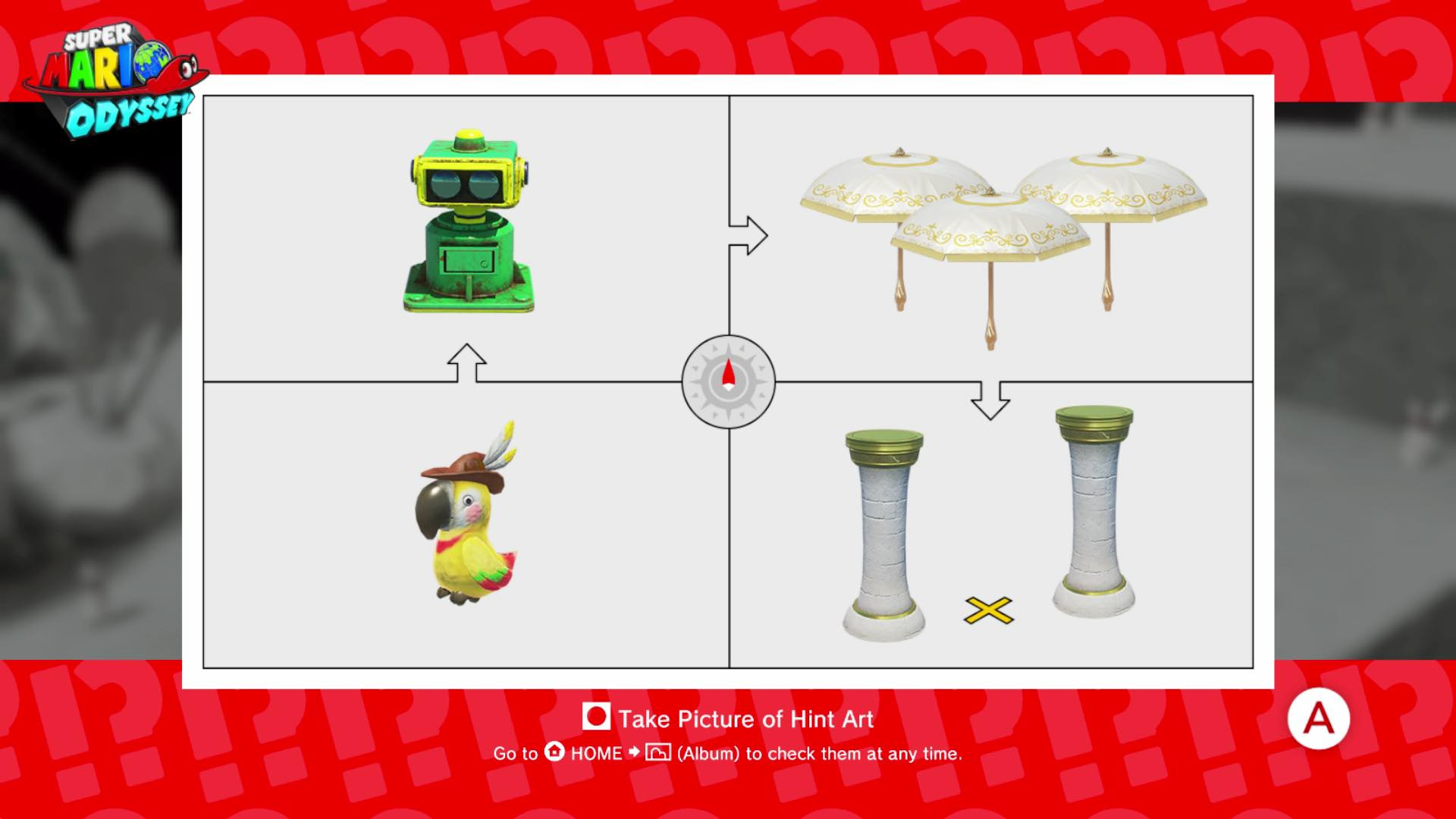 Super mario odyssey guide all hint art puzzle solutions for Super mario odyssey paintings