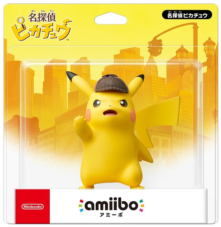 Detective Pikachu arrives on March 23rd with jumbo sized Detective Pikachu amiibo