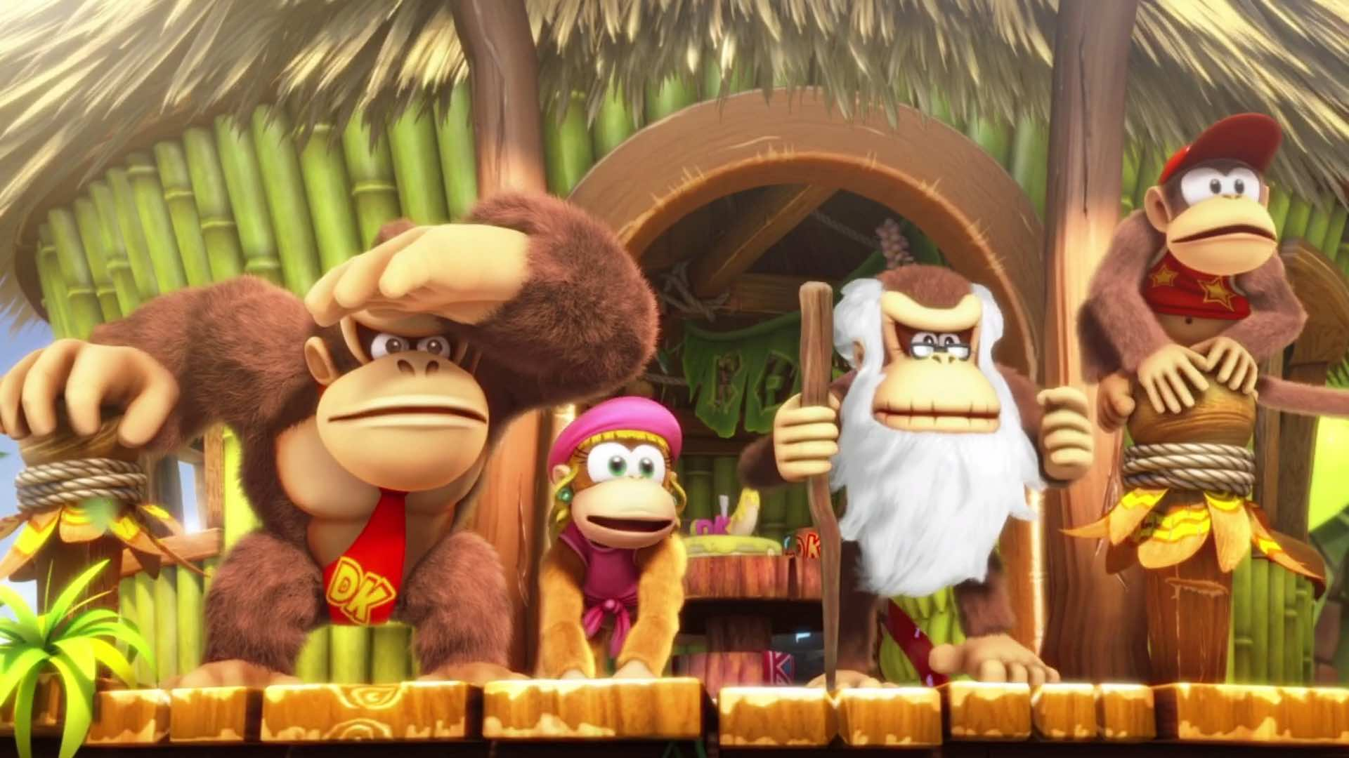 Donkey Kong swinging into Mario + Rabbids: Kingdom Battle on Switch