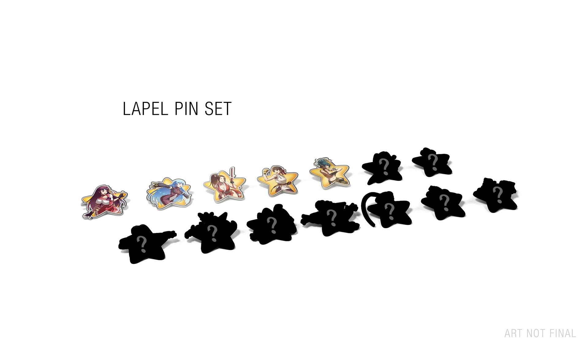 snk-heroines-tag-team-frenzy-lapel-pin-set-photo