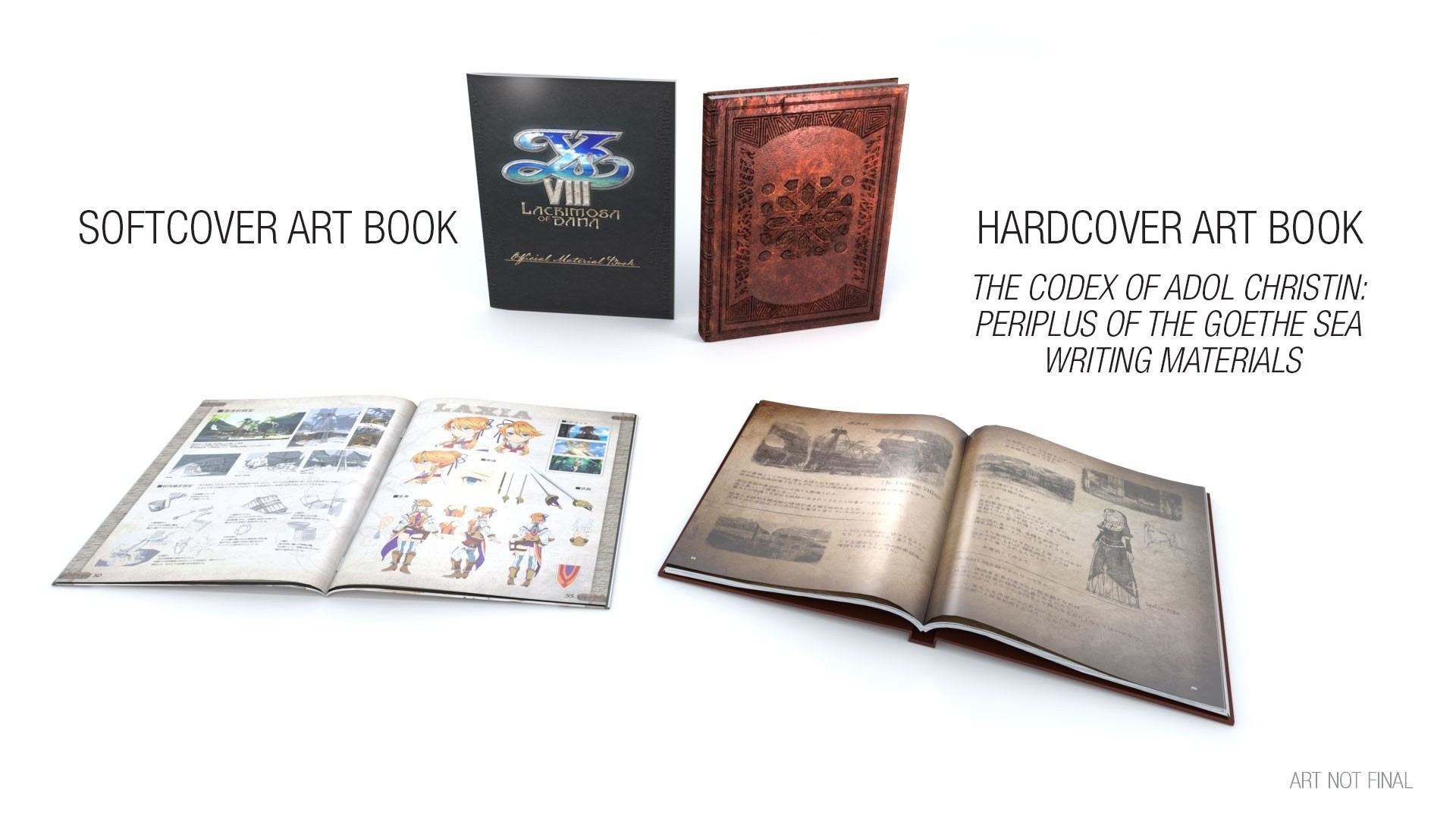 Hardcover Book Graphics : Ys viii lacrimosa of dana limited edition nets you bonus