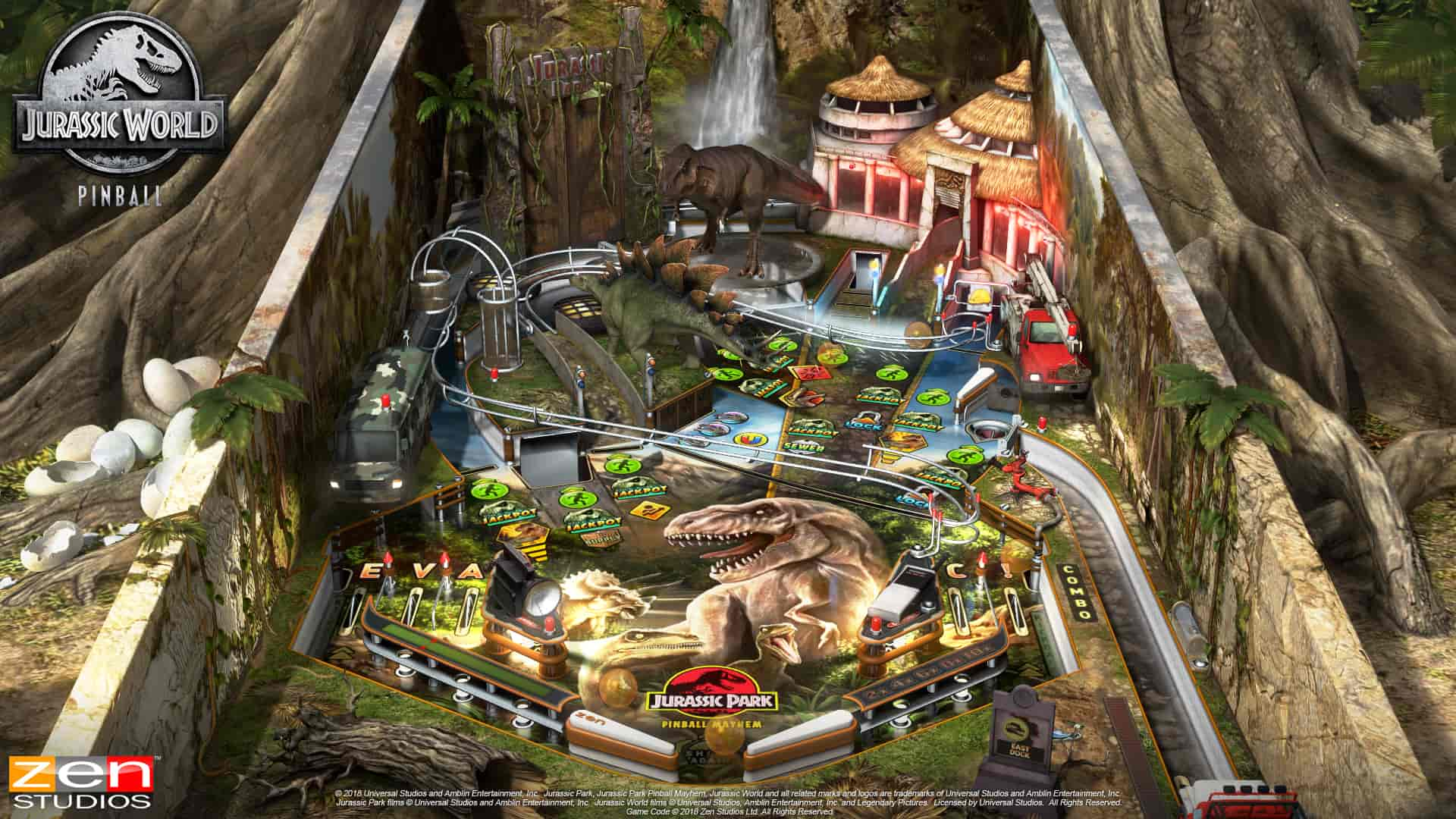 Jurassic Park Pinball Review Screenshot 1