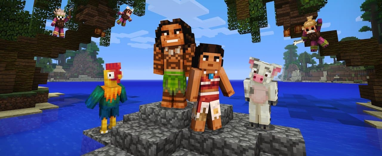 Minecraft: Nintendo Switch Edition Moana Character Pack Screenshot