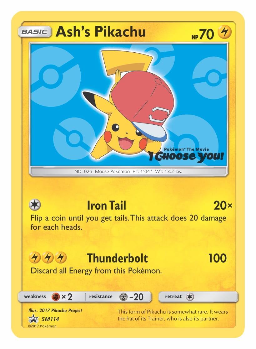 Ash's Pikachu Alola Cap Pokémon TCG Card Image