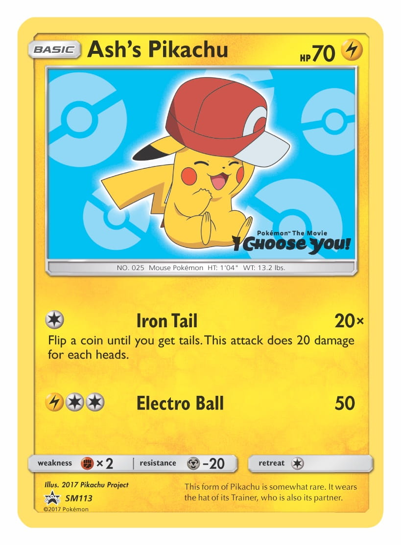 Ash's Pikachu Kalos Cap Pokémon TCG Card Image