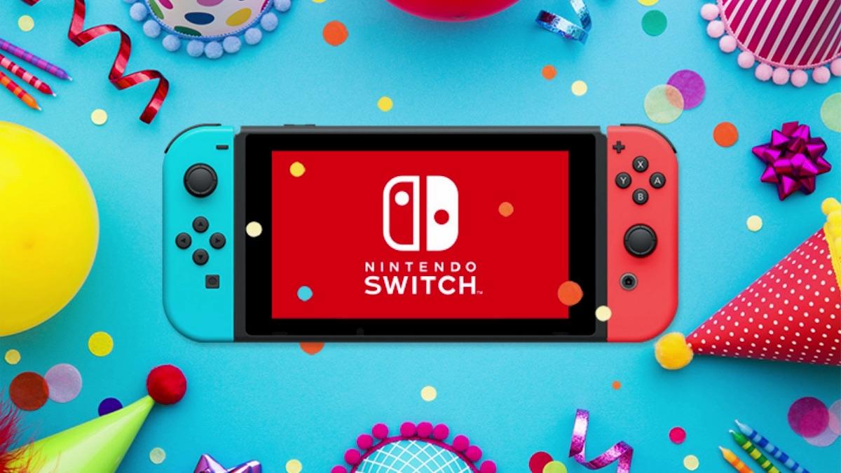 Nintendo Switch Birthday Photo