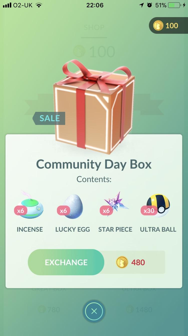 Pokémon GO Community Day Box Image