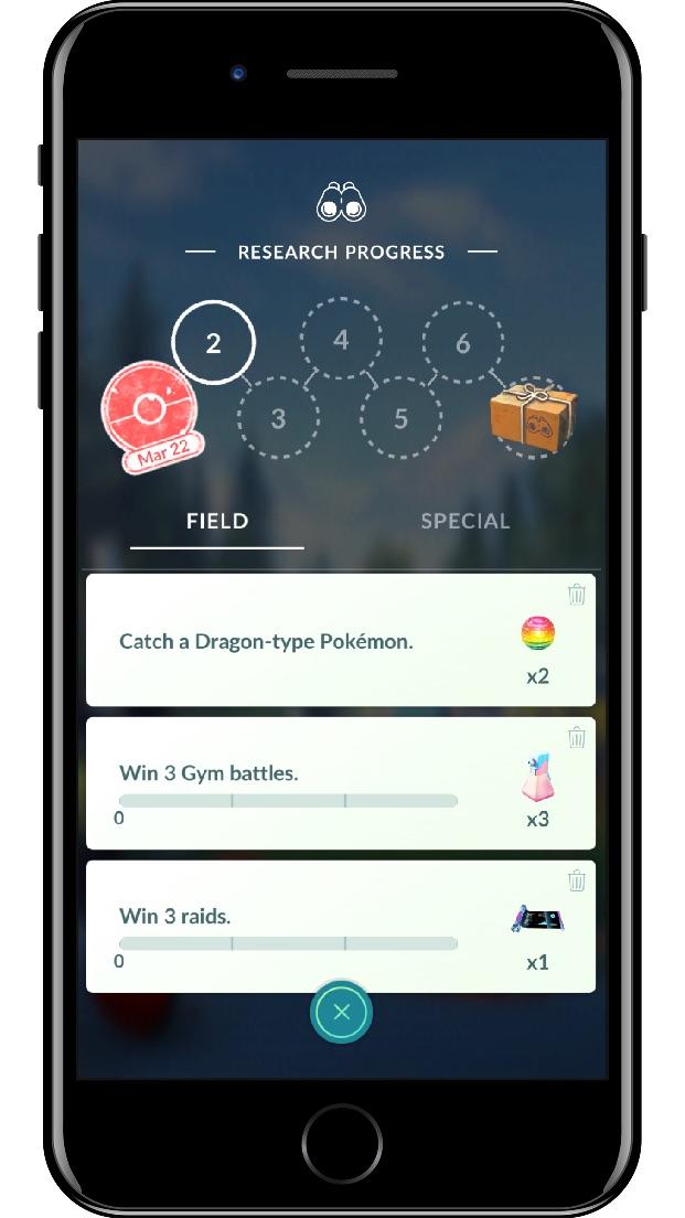 Pokémon GO Field Research Screenshot 1