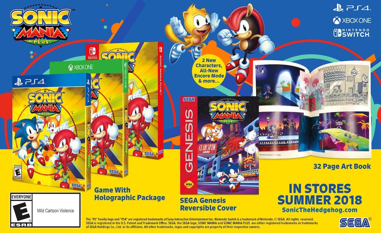 Sonic Mania Plus Box Art