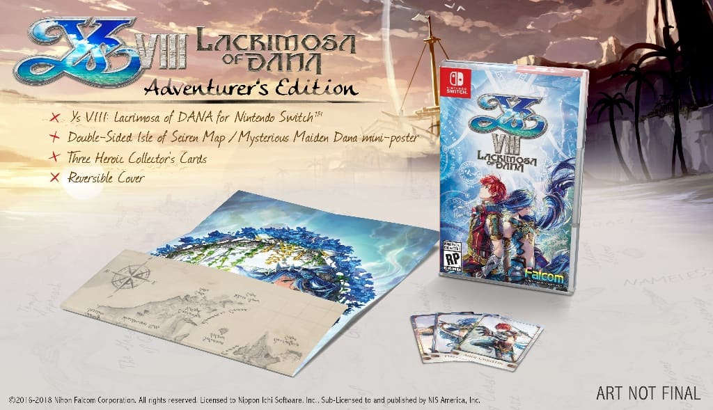 Ys VIII: Lacrimosa of Dana Day One Adventurer's Edition