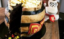 Donkey Kong Barrel Cake