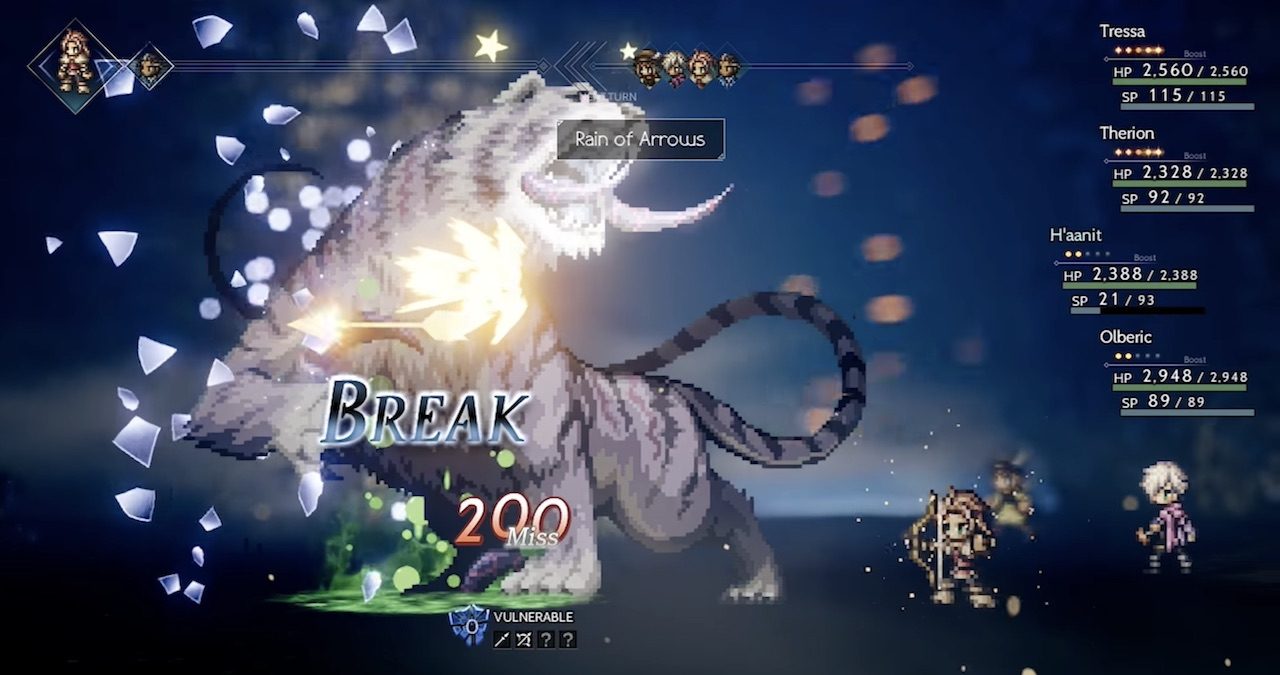 H'aanit Octopath Traveler Screenshot