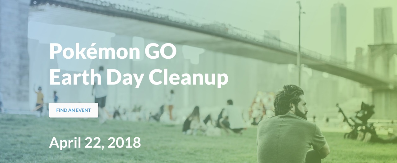 Pokémon GO Earth Day Clean Up Event