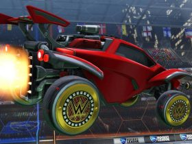 Rocket League WWE Wheels Screenshot