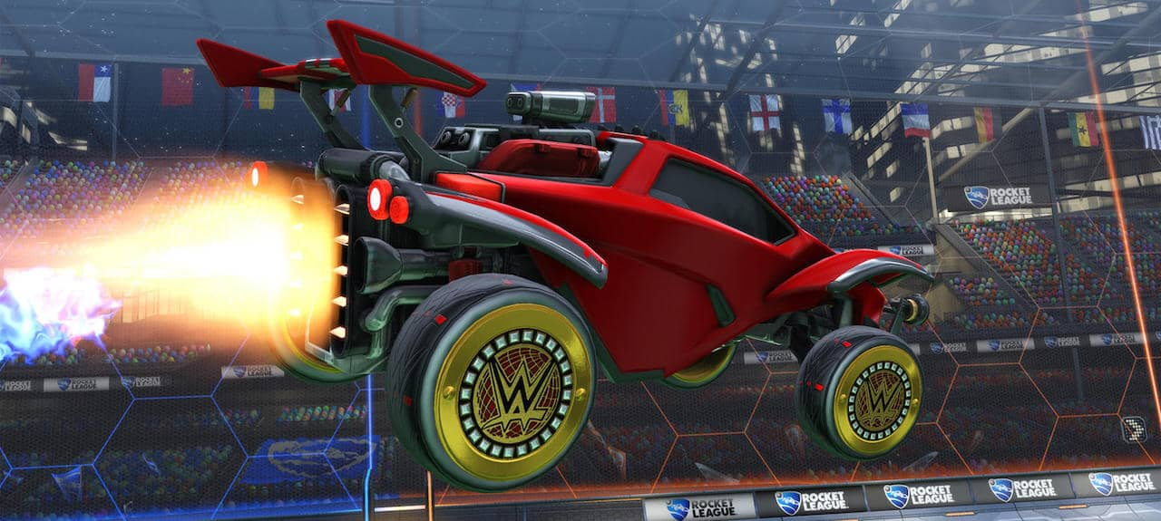 Rocket League WWE Wheels Screenshot