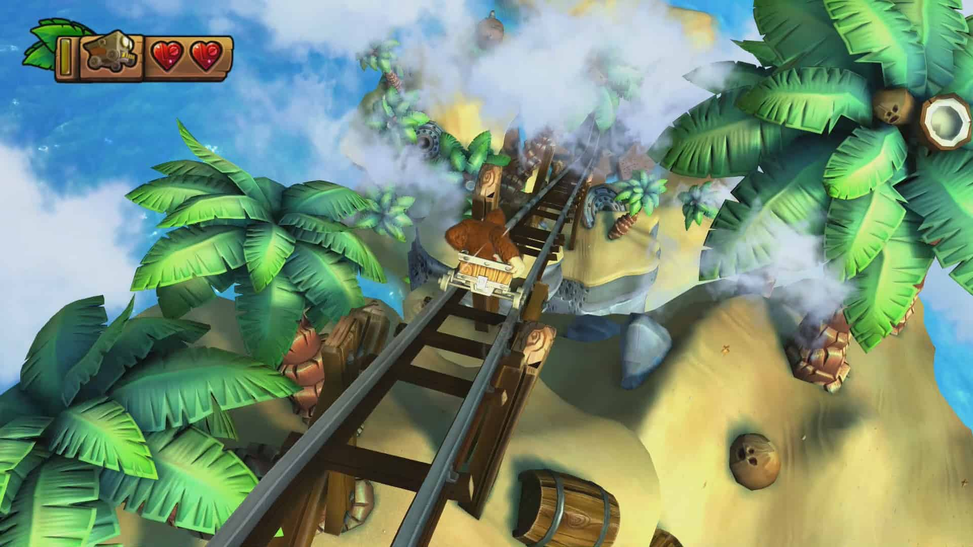 Donkey Kong Country: Tropical Freeze 4-2 High Tide Ride Screenshot