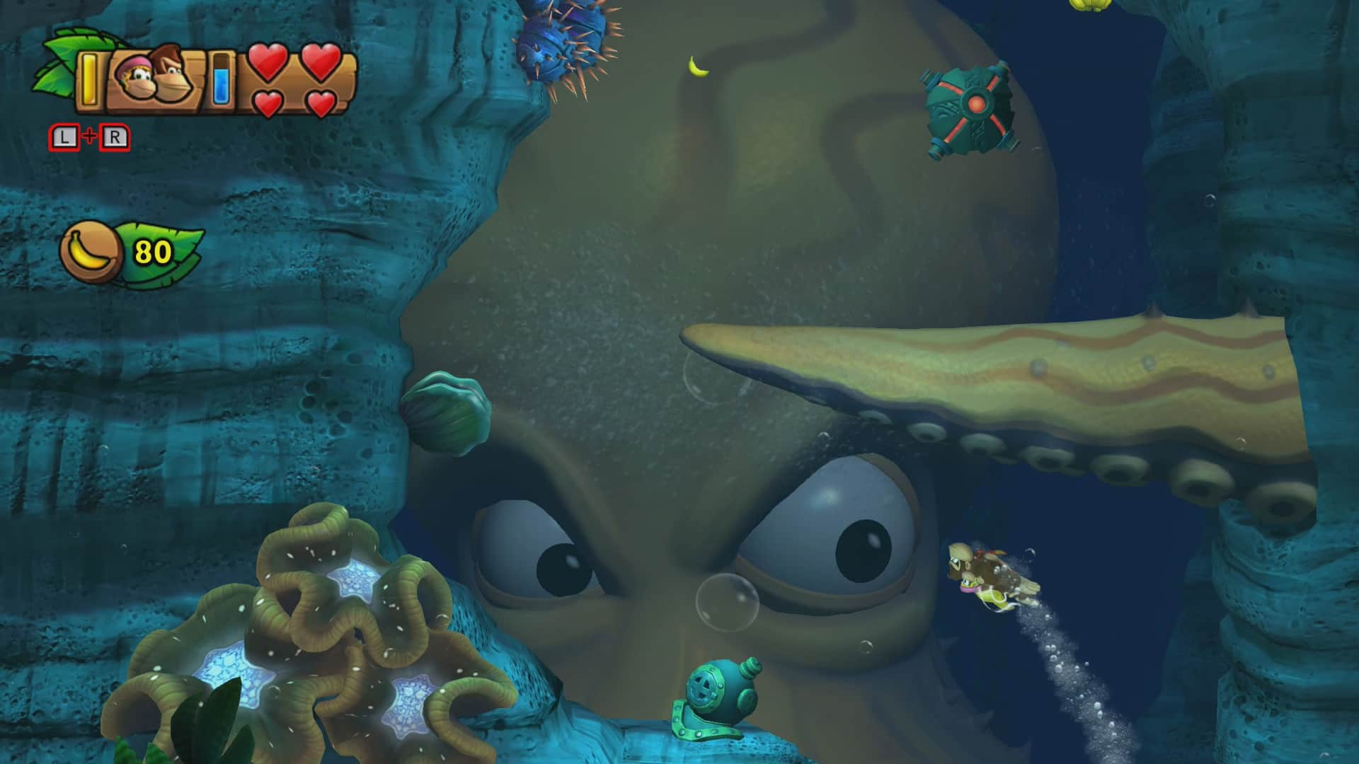 Donkey Kong Country: Tropical Freeze 4-4 Irate Eight Screenshot