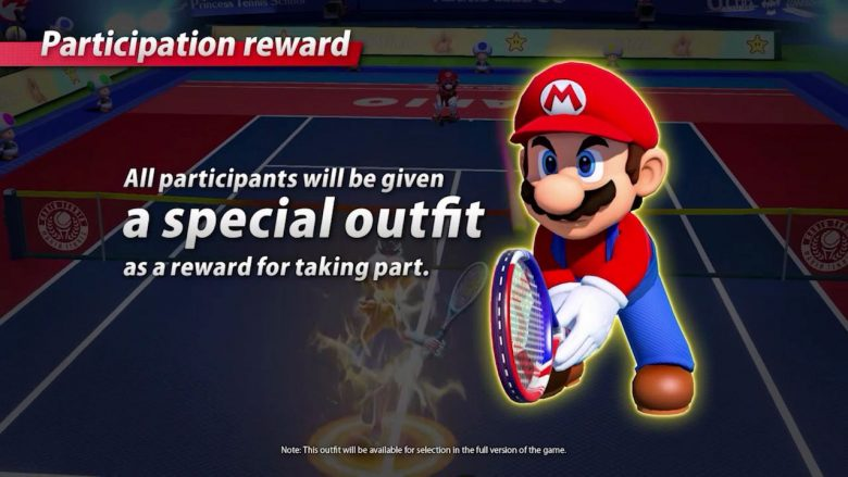 Free Mario Costume Mario Tennis Aces Screenshot