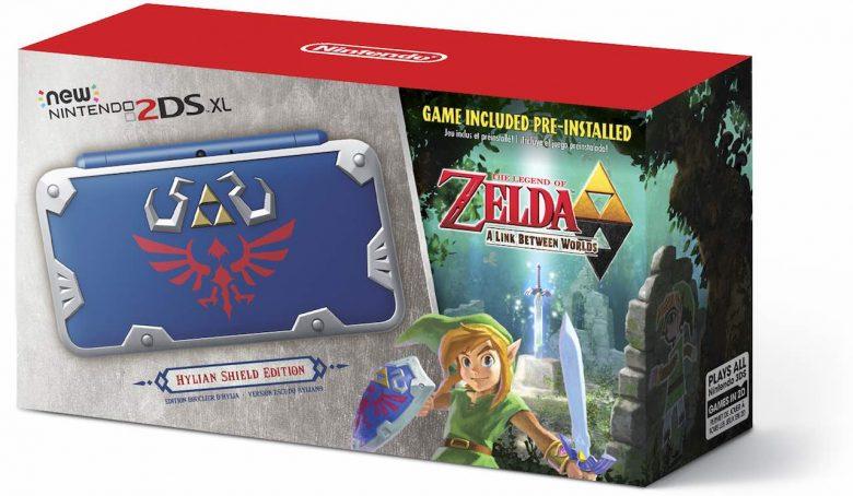 New Nintendo 2DS XL Hylian Shield Edition Box Art