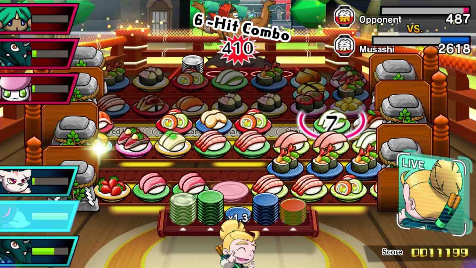 Sushi Striker: The Way of Sushido Preview Screenshot 2