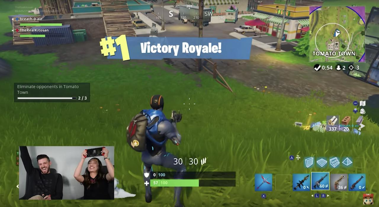 Nintendo Minute Fortnite Victory Royale Screenshot