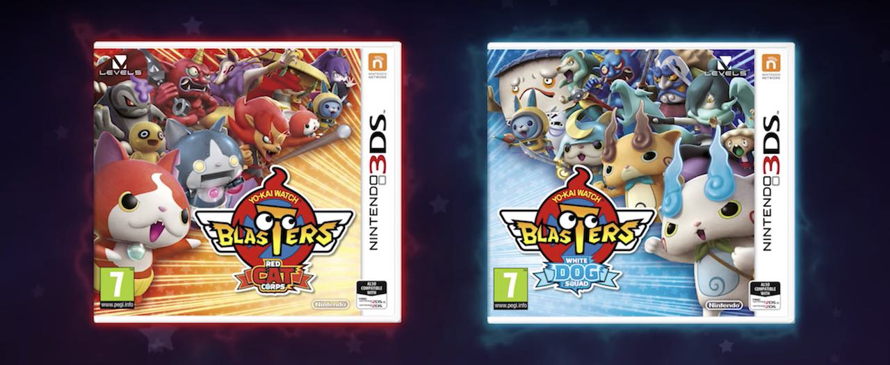 Yo-kai Watch Blasters: Red Cat Corps And White Dog Squad Box Artwork
