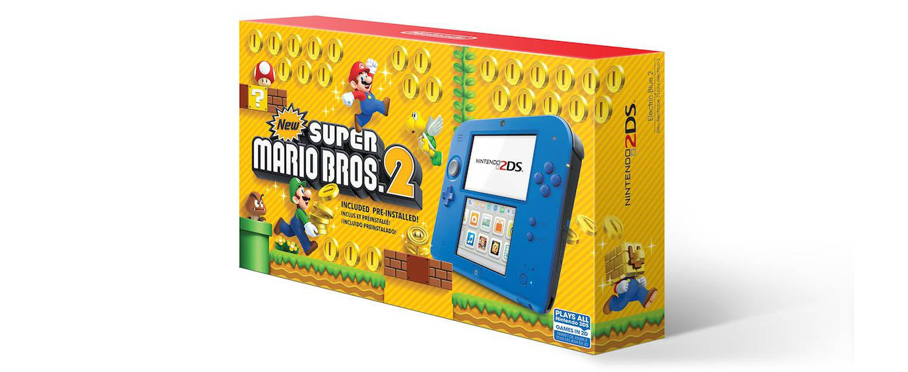 Electric Blue Nintendo 2DS Box Art