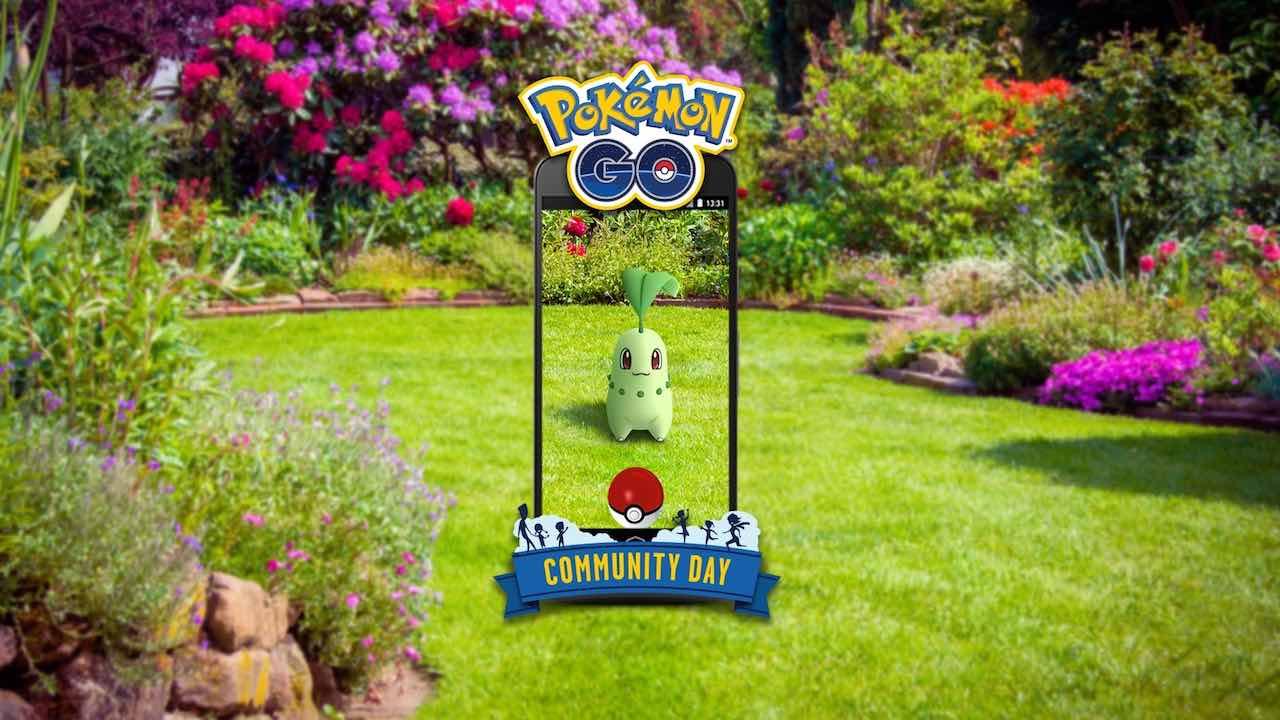 Chikorita Pokémon GO Community Day Image