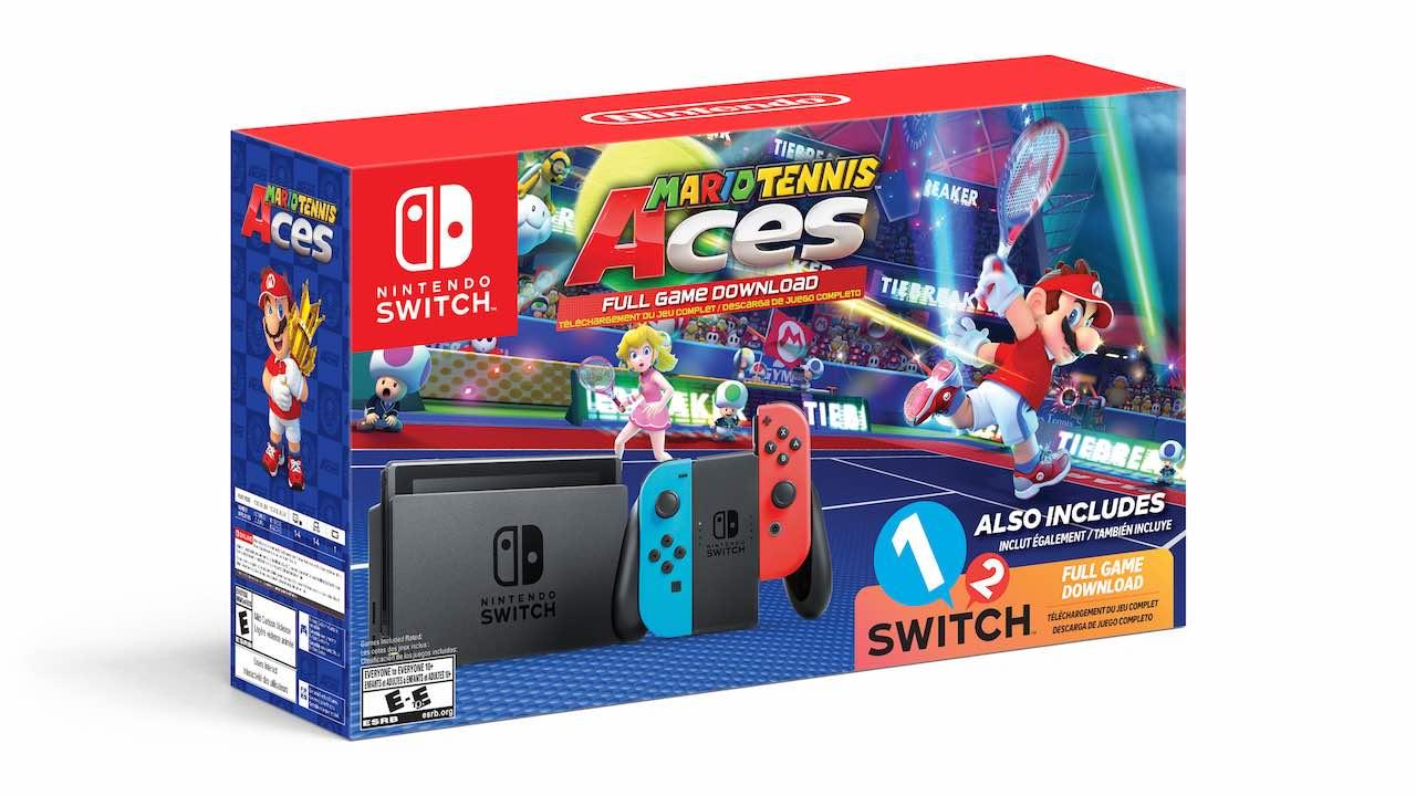 Mario Tennis Aces Nintendo Switch Bundle Walmart Exclusive