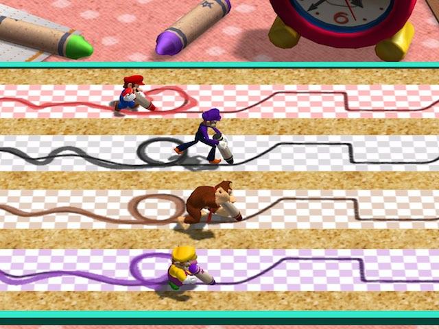 Mario Party 4 Trace Race Screenshot