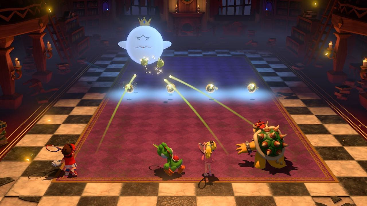 Mario Tennis Aces Co-Op Challenge Screenshot