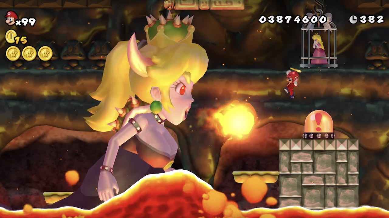 Bowsette New Super Mario Bros. Wii Screenshot