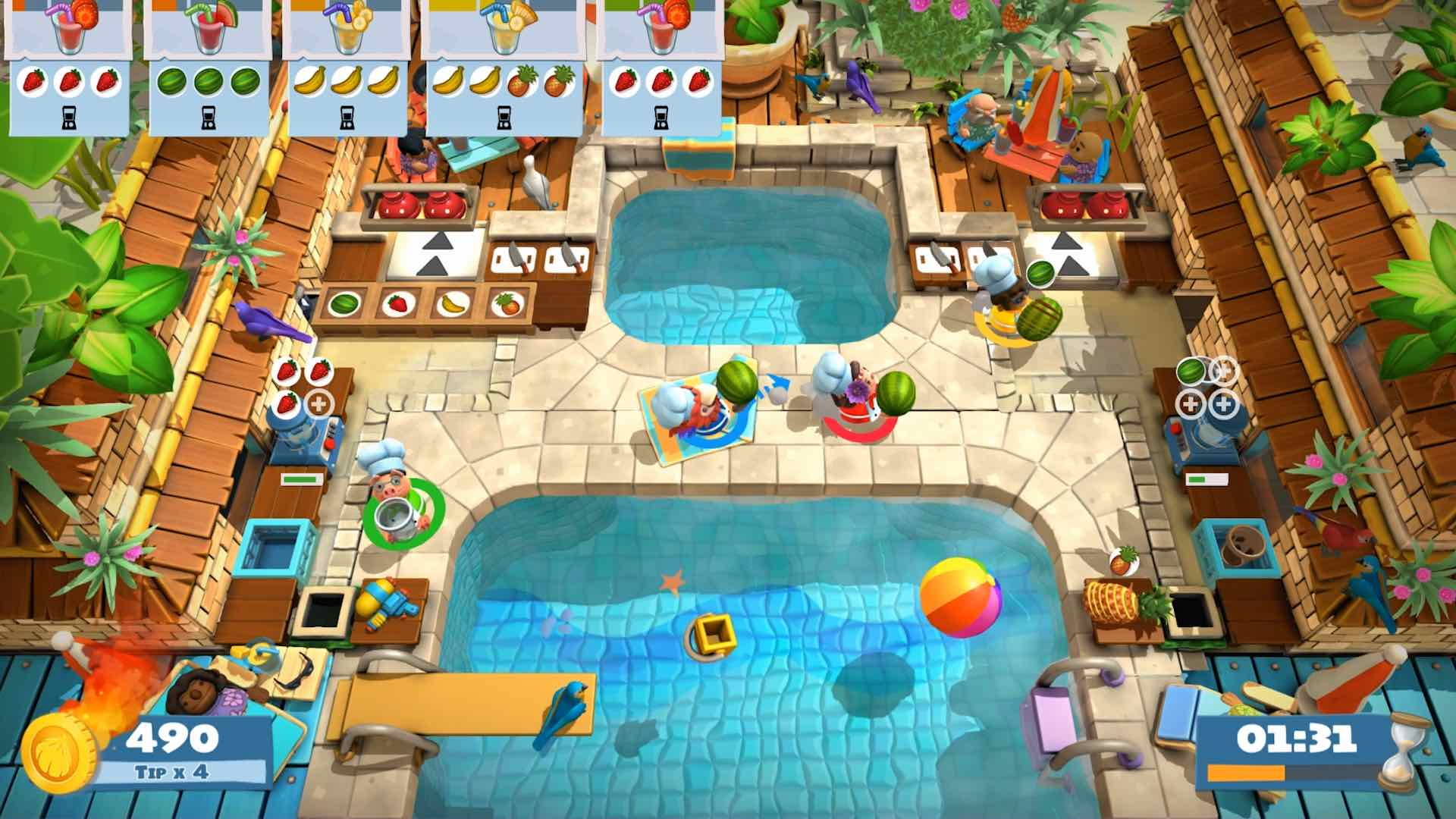 Overcooked 2: Surf 'N' Turf Review Screenshot 1