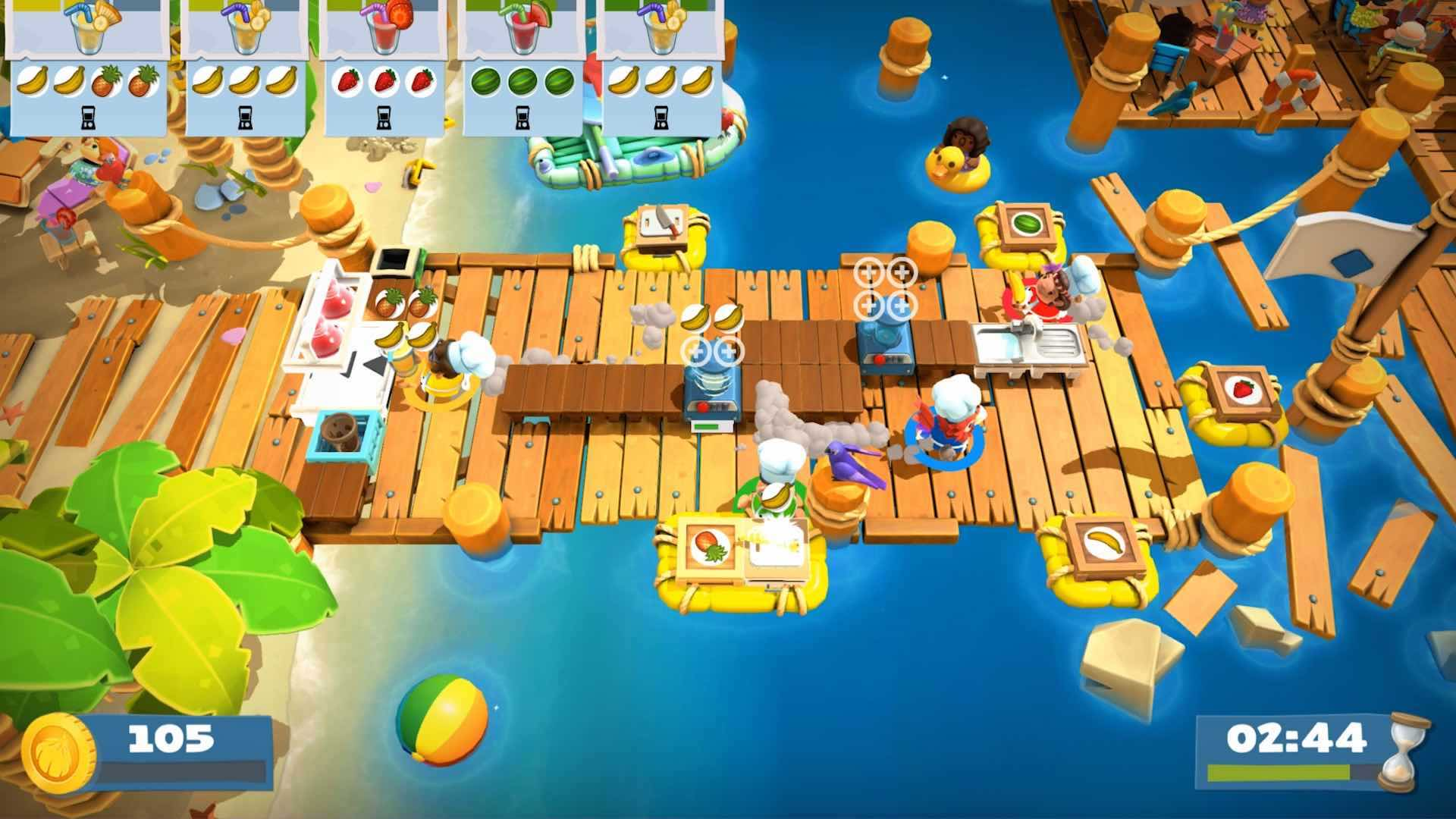 Overcooked 2: Surf 'N' Turf Review Screenshot 2