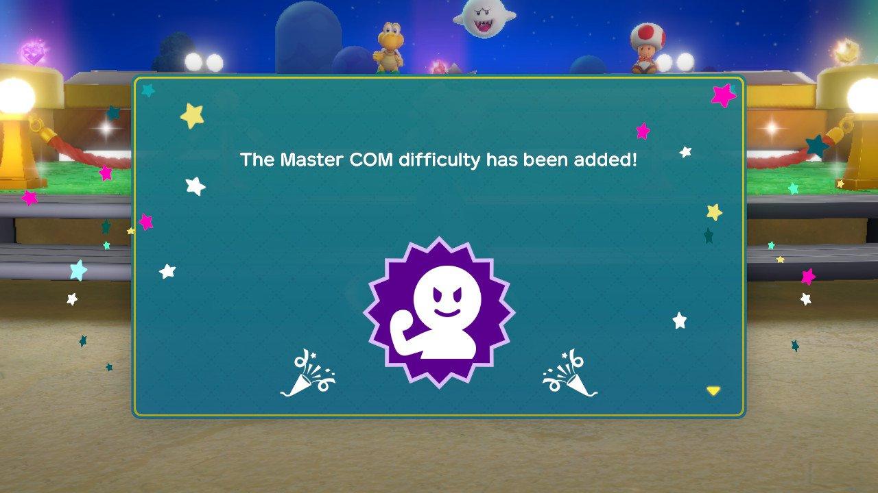 Super Mario Party Master COM Difficulty Screenshot