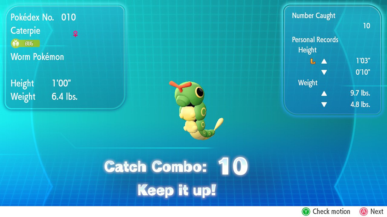Catch Combo Pokémon Let's Go Screenshot