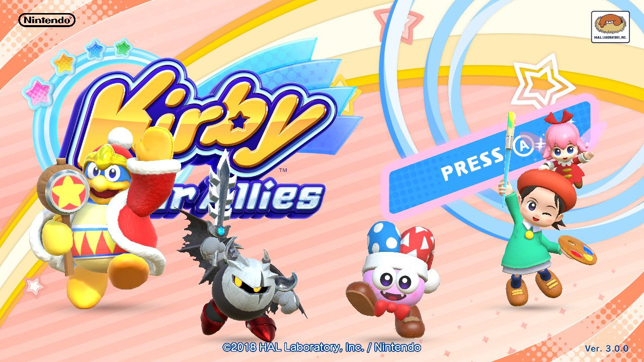 Kirby Star Allies Title Screen Animation