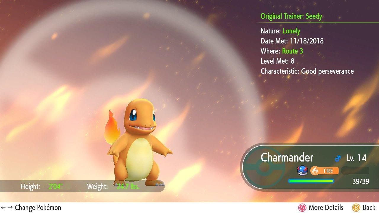 Pokémon Let's Go Nature Chart Screenshot