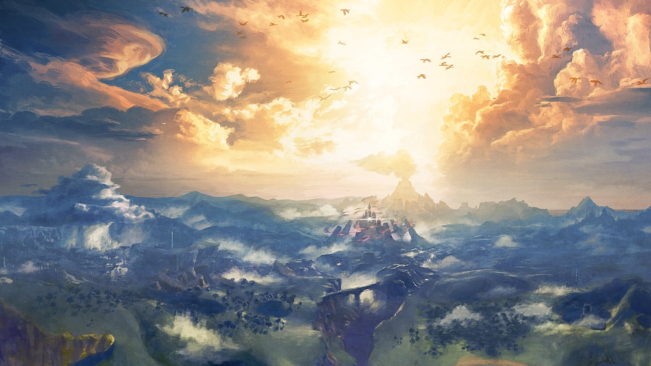 Zelda: Breath Of The Wild Landscape Artwork