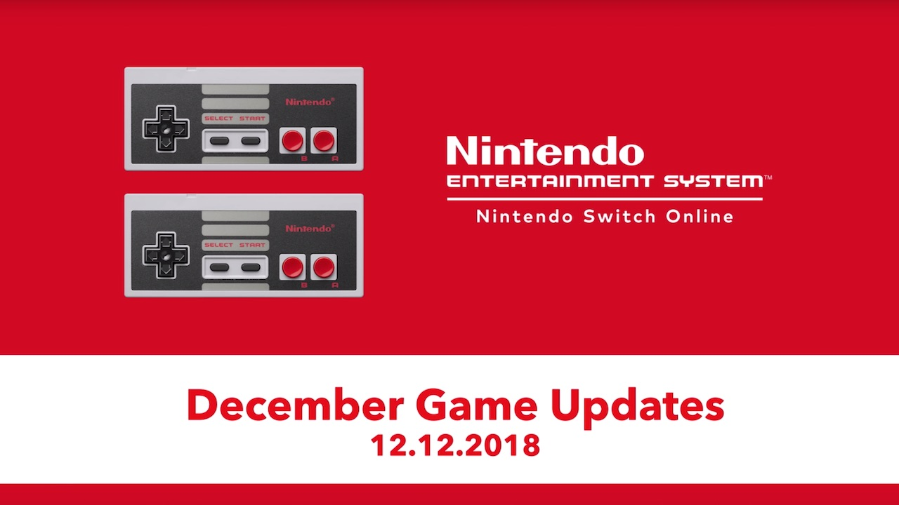 Nintendo Switch Online Update December 2018 Screenshot
