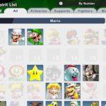 Super Smash Bros. Ultimate Spirit List Screenshot