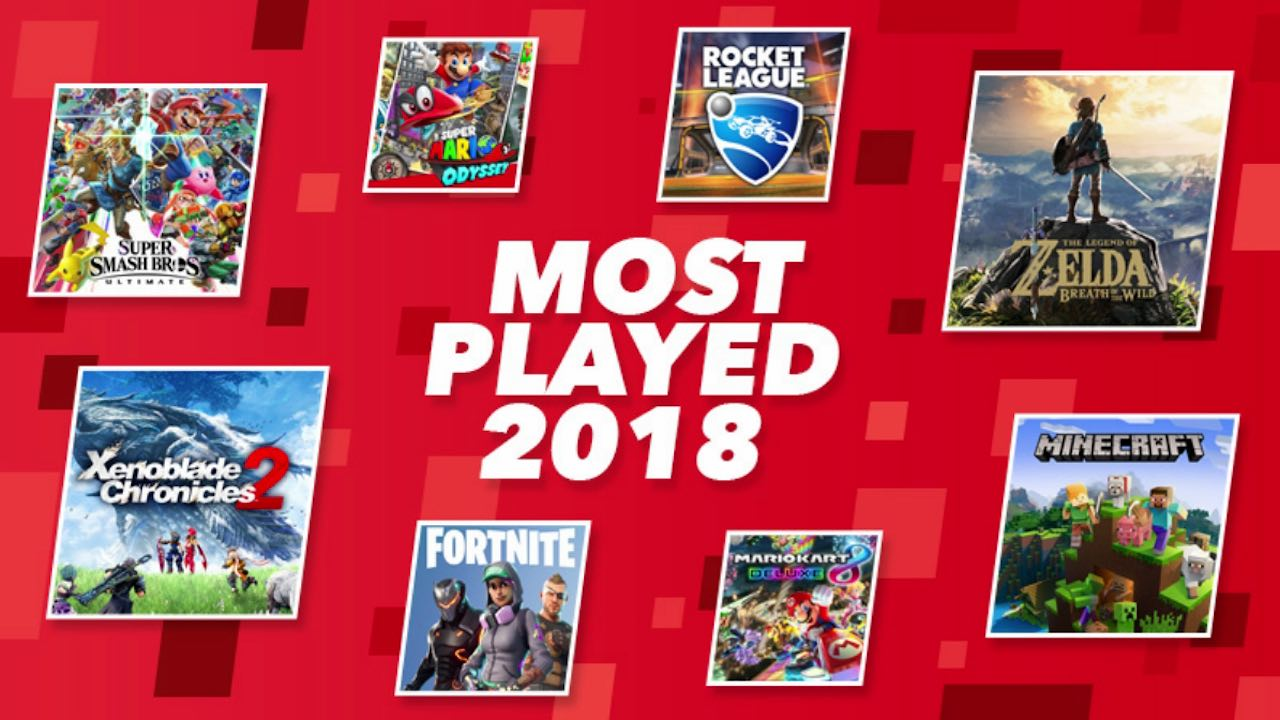 Fortnite Most Played Switch Game 2018 Key Art