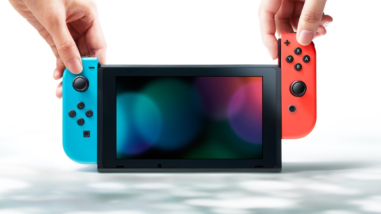 Neon Red Blue Nintendo Switch Photo