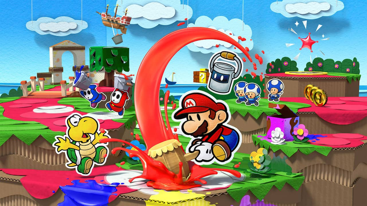 Paper Mario Color Splash Key Art