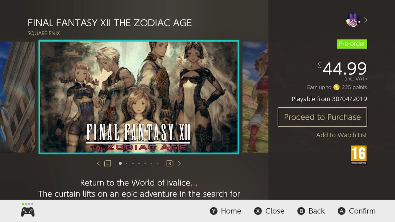 Final Fantasy XII The Zodiac Age eShop Screenshot